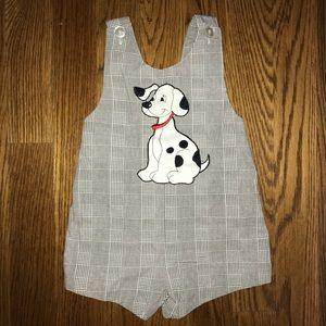 Other - Vintage Dalmatian Boys Shortall Sunsuit Outfit 4T